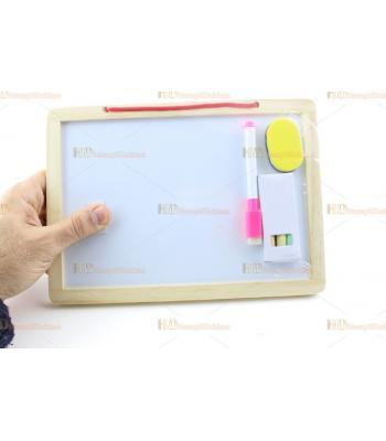 İki taraflı yazı tahtası ister keçeli yaz ister tebeşir ile yaz eğitici oyuncak toptan