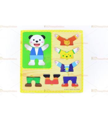 Toptan eğitici oyuncak giydirmeli yapboz puzzle