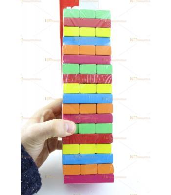Toptan eğitici oyuncak renkli jenga denge oyunu