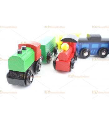 Mini ahşap mıknatıslı tren eğitici oyuncak set