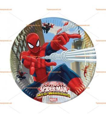 Spider man örümcek adam parti tabak toptan