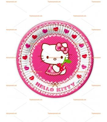 Hello kitty parti tabak toptan
