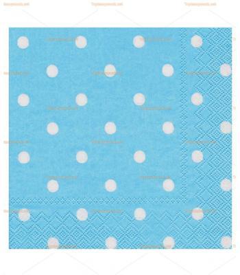 Mavi beyaz puan doğum günü peçete toptan
