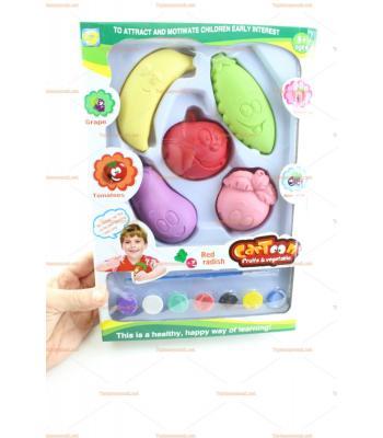 Toptan eğitici oyuncak meyve sebze boyama seti