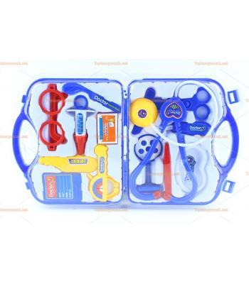 Toptan oyuncak doktor seti erkek çocuk için mavi renk çantalı promosyon