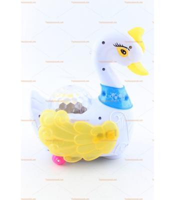 Toptan ucuz pilli ışıklı oyuncak kuğu kanatlarını açar