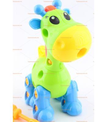 Toptan eğitici oyuncak sök tak zürafa renkli eğlenceli