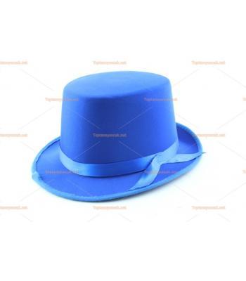 Toptan parti şapkaları renkli parlak silindir mavi kurdeleli