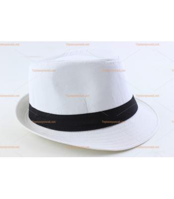 Toptan parti şapkaları beyaz renk kahverengi kuşak