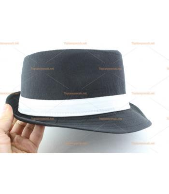 Toptan parti şapkaları siyah renk beyaz kuşak