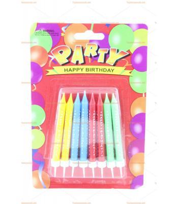 Toptan doğum günü mumu yazılı renkli