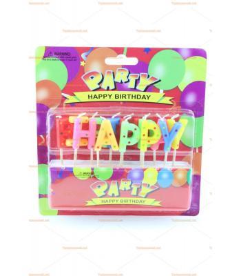 Toptan doğum günü mumu happy birth day harfleri
