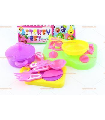 Toptan ucuz plastik oyuncak yemek seti poşetli