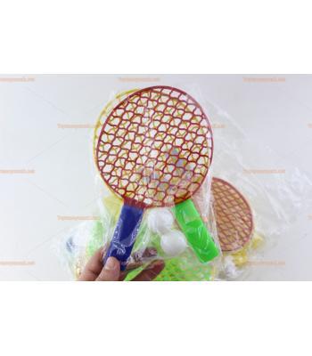 Ucuz toptan promosyon oyuncak plastik tenis raket top set
