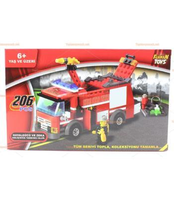 Toptan eğitici oyuncak lego itfaiye set 206 parça