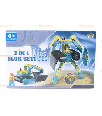 Toptan eğitici oyuncak 2 in 1 box set 131 parça lego