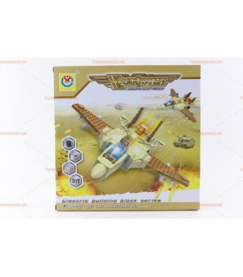 Toptan ışıklı savaş uçağı lego eğitici oyuncak