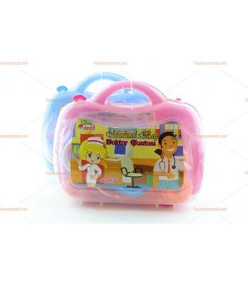 Toptan pvc çantalı oyuncak doktor seti candy