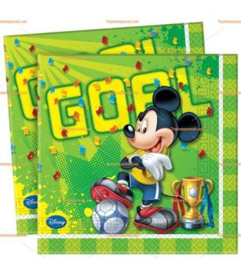 Mickey Mouse Goal Futbol parti peçete