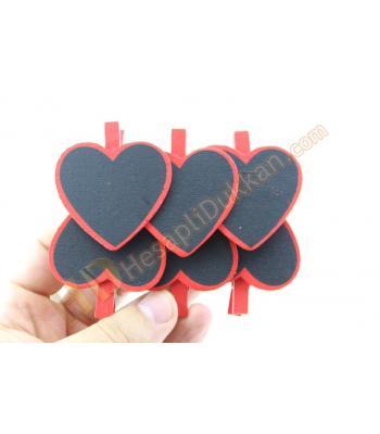 Promosyon ürünü mandallı kalp küçük dövizler