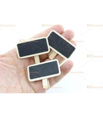 Promosyon ürünü mini mandallı kara tahta dövizler