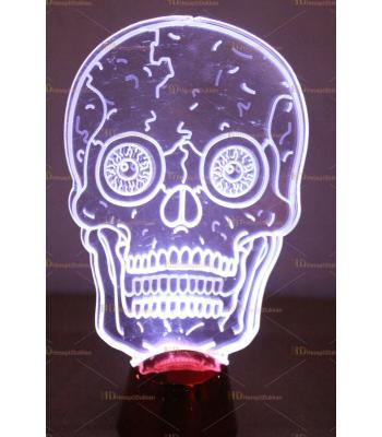 Promosyon ışıklı kuru kafa baskı logo uygulama