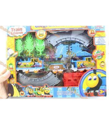 Pilli Tren Seti Kutulu Oyuncak Eğlenceli Renkli