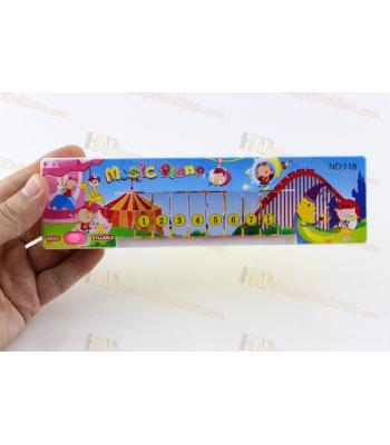 Promosyon oyuncak piyano küçük boy pilli renkli