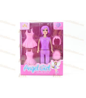 Promosyon oyuncak giydirmeli bebek seti elbiseli kutulu