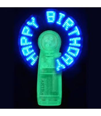 Promosyon led mesajlı fan pervane baskı logo