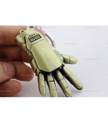 Toptan anahtarlık metal sarı iron man eli