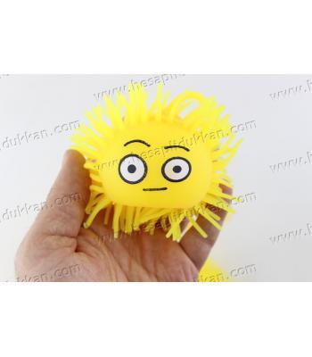 Promosyon oyuncak ışıklı silikon kirpi yoyo uzayan püskül ucuz fiyat