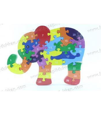 Promosyon oyuncak parçalı puzzle fil