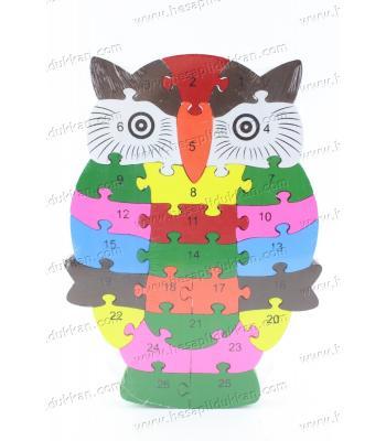 Promosyon oyuncak parçalı puzzle baykuş