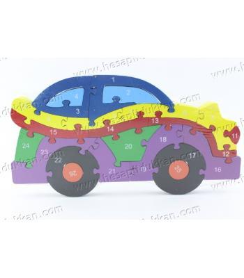 Promosyon oyuncak parçalı puzzle araba