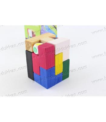 Promosyon oyuncak eğitici ahşap blok tetris