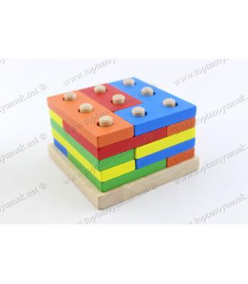 Promosyon oyuncak tetris bloklar ahşap eğitici