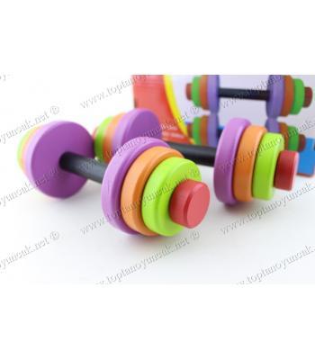 Promosyon oyuncak eğitici halter blok ikili set