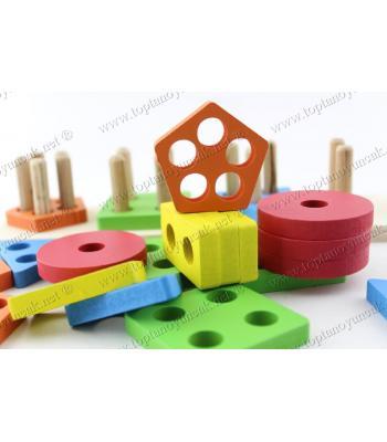 Promosyon oyuncak ahşap şekiller geometri eğitici oyuncak