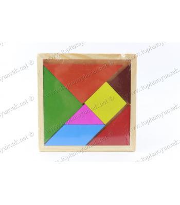 Promosyon oyuncak ahşap tangram orta boy ucuz fiyat