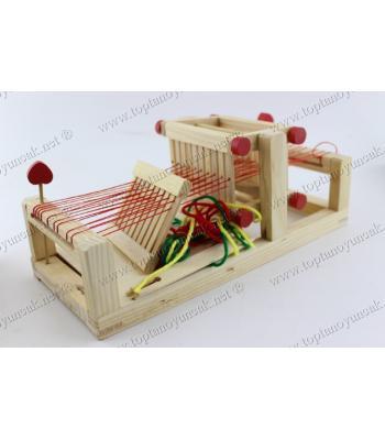 Promosyon oyuncak eğitici halı kilim dokuma ahşap set
