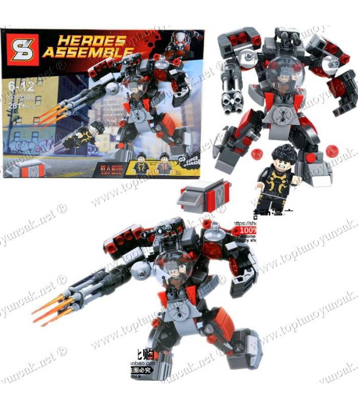 Promosyon oyuncak lego robot karınca adam 281 parça eğitici oyuncak