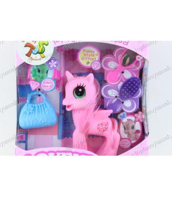 Promosyon oyuncak at plastik pony renkli ucuz fiyat