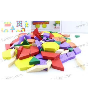 Promosyon oyuncak 125 parça ahşap tangram puzzle eğitici fiyat