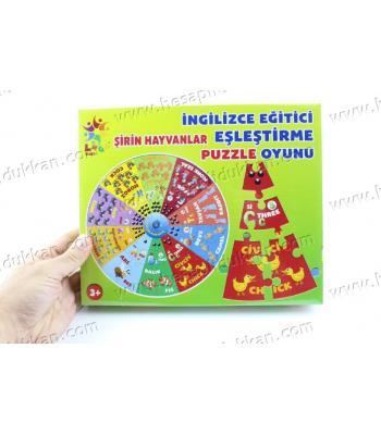 Promosyon oyuncak Puzzle ingilizce eğitici eşleştirme oyunu