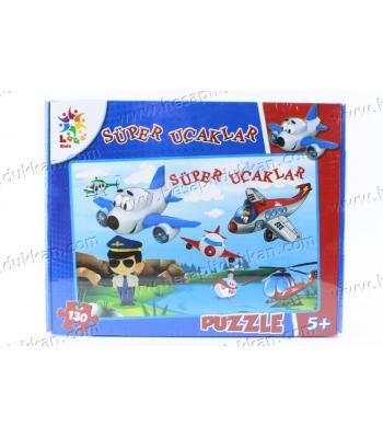 Promosyon oyuncak puzzle karton yapboz süper uçaklar