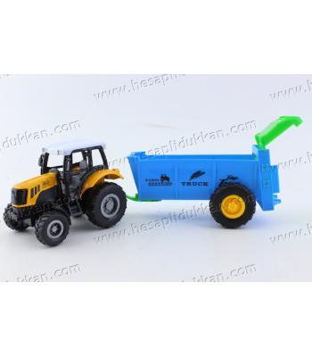 Promosyon oyuncak çek bırak römork traktör metal die cast araba
