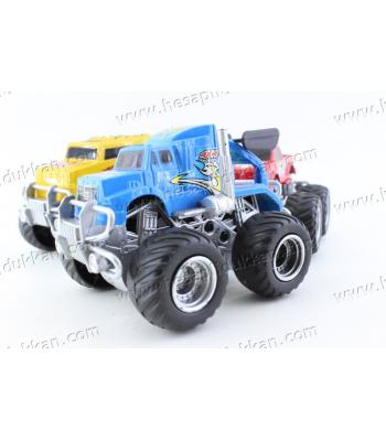 Promosyon oyuncak mini canavar kamyon araba it bırak ucuz toptan