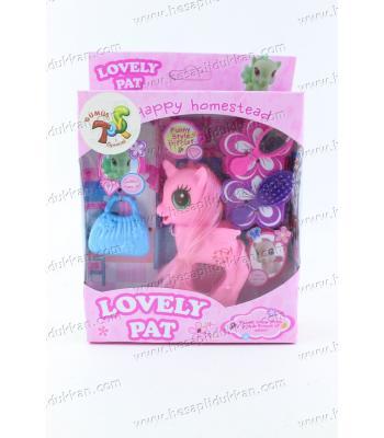 Promosyon oyuncak pony at kutulu aksesuarlı taraklı