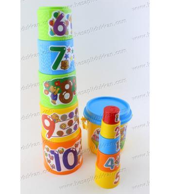 Promosyon oyuncak kule yap sayılar eğitici ucuz fiyat